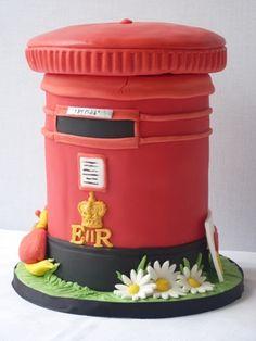 Premium Red Mailbox Postbox Birdhouse Design Post Box Storage Unit House Decor