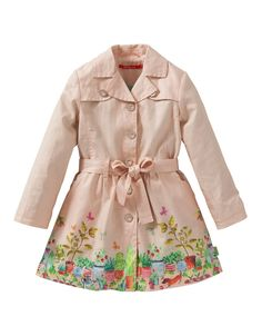 Coat Caroline. Lovely summer coat made of a linen blend. With a cheerful Oilily print on the bottom.