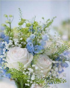 THESE LITTLE BLUE FLOWERS     Nikki Tibbles' Wild at Heart, flowers at Chelsea Christ Church, London, UK.