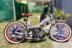 Bobber, Harley Davidson 883, Motos Vespa, Custom Moped, Moto Car, Motorised Bike, Honda Cub, Moped Scooter, Xjr