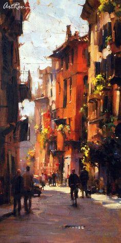 Sunny Day Verona By Dmitri Danish - Giclee on Canvas