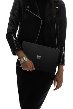 Anything but ordinary: Introducing the new Surface Laptop now available in Black. New Surface, Surface Laptop, Microsoft Surface Book, Wearing All Black, Lifestyle, Laptops, My Style, Monochrome, How To Wear