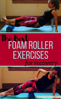 These simple foam roller exercises for runners are an essential part of recovery. Discover the trigger points in your muscles to help speed up recovery in your legs after running. These foam roller stretches are the best for sore muscles and simple enoug Foam Roller Stretches, It Band Stretches, Stretches For Runners, After Run Stretches, Flexibility Stretches, Shin Splint Exercises, Shin Splints, Foam Rolling For Runners, Running Injuries