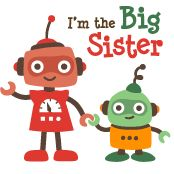 Big Sister Retro Robot personalized t-shirts and gifts from Your SpecialTee
