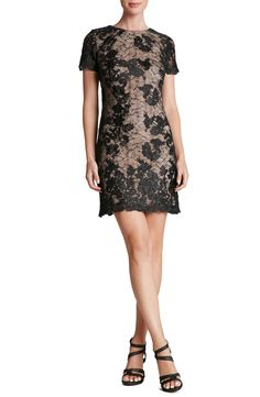 6b49426235a Dress the Population  Joanne  Corded Embroidered Lace Minidress available  at  Nordstrom Short Lace