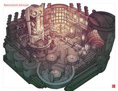 ArtStation - Wild J. Bones and his Hopping Bone Space Saloon! , Raymond Griego