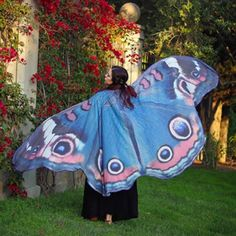 Butterfly Wing Large Fairy Cape Scarf Women Bikini Cover Up Chiffon Gradient Beach Cover Up Shawl Wrap Peacock Cosplay Color 1 Size One Size Butterfly Scarf, Rainbow Butterfly, Butterfly Fairy, Butterfly Wings, Monarch Butterfly, Belly Dancer Halloween Costume, Butterfly Halloween Costume, Adult Halloween, Dance Costume