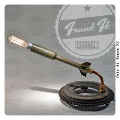 """Bomba Illuminante"" - hand made Vintage Industrial table lamp"