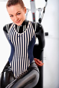 Alexandra Potter, Leather Catsuit, Skin Tight, Latex, High Heels, Strong, Sexy, Funny, Model