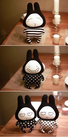 Kits DIY - muñeco de peluche sonrisa de conejo (referencia) http://item.taobao.com/item.htm?id=10230206871&_u=m842ocj9469=tfxskutitle