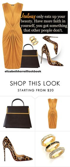 """""""LIZ"""" by elizabethhorrell ❤ liked on Polyvore featuring Salvatore Ferragamo, WearAll, Christian Louboutin and Marc by Marc Jacobs"""