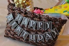 Mini Birthday Chalkboard Bunting by AmanditaDesigns on Etsy