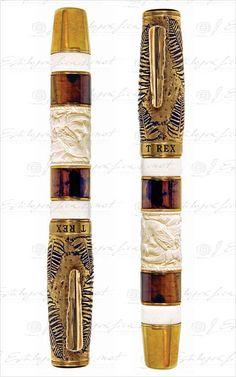 T Rex. Krone ~ Fountain Pen Waterman Pens, Luxury Pens, Fine Pens, Pen Collection, Custom Pens, Best Pens, Calligraphy Pens, Fountain Pen Ink, Rollerball Pen