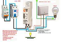 Esquemas eléctricos: Minutero escalera para 4 hilos
