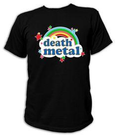 Artdiktat Herren T-Shirt Death Metal - Rainbow Größe M, schwarz