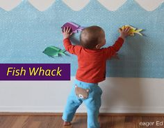 This bubble wrap activity requires full use of arms to reach for the fish. For a young child it is a full body work out in many aspects. It is a creative use of bubble wrap and also teaches children the sound and texture of the materials used. Motor Skills Activities, Gross Motor Skills, Sensory Activities, Infant Activities, Activities For Kids, Kinesthetic Learning, Kids Learning, Ocean Lesson Plans, Toddler Class