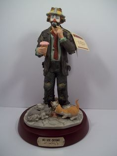"Emmett Kelly, Jr. Signature Collection ""No Use Crying"" Ltd Edition -Retired- NEW"