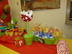 Super Mario Bros. Birthday Party deco Available for rent in LA area :) message me