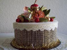 Holiday Cake, paper cake, book cake, paper art, cake decor, floral cake