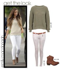 Emily MacDonagh wearing a River Island White and black ...