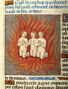 Hebrews Three: in Fiery Furnace | Psalter | France, Paris | between 1495 and 1498 | The Morgan Library & Museum