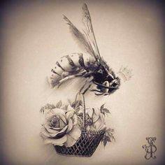 Queen Bee Tattoo