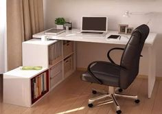 escritorio melamina en l con repisa
