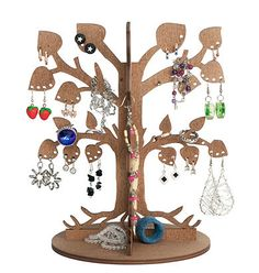 "Wooden Ecological Jewelry Tree / Earring Tree / Earring Holder / Jewelry Stand / Jewelry Organizer ""Leafy Dream"""