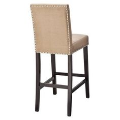 Target Mobile Site - Uptown Parson Nailhead Bar Stool - Cappuccino...thinking I want burlap barstools