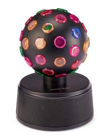 Bluetooth Wireless Disco Ball Speaker - A ready-to-go party right out of the box! Sharper Image's rotating, multicolored disco ball keeps the beat, projecting LED lights on to the walls and ceiling while your favorite music plays. Its small footprint allows it to fit comfortably in any space.