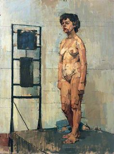 Euan Uglow, Female Figure Standing by a Heater