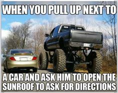 jacked up chevy trucks pictures Jacked Up Chevy, Jacked Up Trucks, Cool Trucks, Big Trucks, Chevy Trucks, Lifted Trucks Quotes, Funny Truck Quotes, Truck Memes, Funny Car Memes