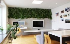 My Houzz: LEDs and a Living Wall Color a Minimalist Slovakian Home Decorating Your Home, Interior Decorating, Interior Design, Decorating Ideas, Unique Home Decor, Cheap Home Decor, Green Accent Walls, Accent Wall Designs, Minimalist Apartment