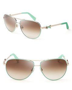 kate spade new york Bow Aviator Sunglasses   Bloomingdale's