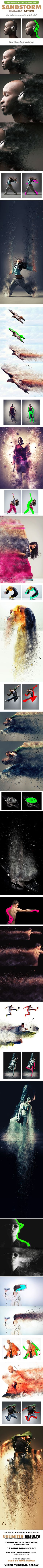 Create an awesome sandstorm effect with this premium Photoshop action. Great…