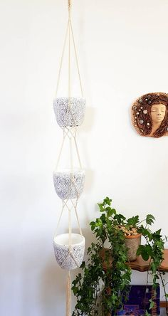 Minimalistic And Modern Plant Holders. I Think This Macrame Kit Will Be  Perfect Decoration For Your Patio. LENGTH: Total Length About 54 In (main  Part About ...