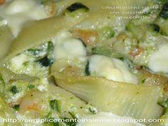 Conchiglioni ripieni di zucchine e gamberetti Dessert Recipes, Desserts, Italian Recipes, Italian Foods, Potato Salad, Buffet, Menu, Potatoes, Chicken