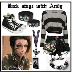 Andy biersack polyvore | fashion look from January 2014 featuring Converse sneakers. Browse ...