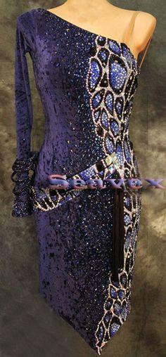 Women Ballroom Salsa Rumba Latin Cha Samba Dance Dress US 8 UK 10 Two Blue