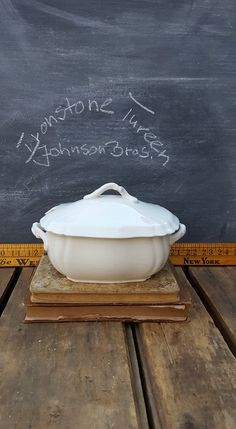 Antique Ironstone Sauce Tureen, Johnson Brothers by ElisabethMacBeth on Etsy