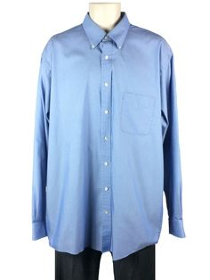 96736f07 Blue Shirt Dress, Dress Shirt Sizes, Dress Shirts, Button Down Collar, Point