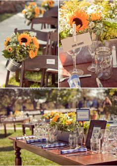 All rentals provided by Celebrations for a formal country wedding!