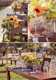 Sunflower wedding decor - for sister