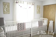 Twin Girls Nursery - #nursery #twins