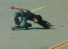 Peggy Oki was a member of the Zephyr skate team, one of the famous Z-Boys (like from Lords of Dogtown!) but she was a WOMAN