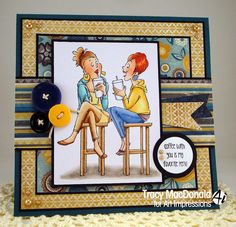 Coffee girls  sold in a set or separately made by Art Impressions Rubber Stamps, items can be purchased in my ebay Store Pat's Rubber Stamps & Scrapbooks or call me 423-357-4334 with order, or come by 1327 Glenmar Ave. Mt Carmel, TN 37645, Pat's Rubber Stamps & Scrapbook supplies 423-357-4334. We take PayPal. You get free shipping with the phone orders of $30.00 or more