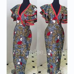 Look at this Gorgeous latest african fashion look Ankara Gown Styles, Ankara Gowns, Ankara Dress, African Fashion Ankara, African Print Dresses, African Dress, African Prints, African Attire, African Wear