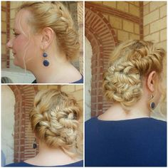 French fishtail updo.Perfect for wedding or prom