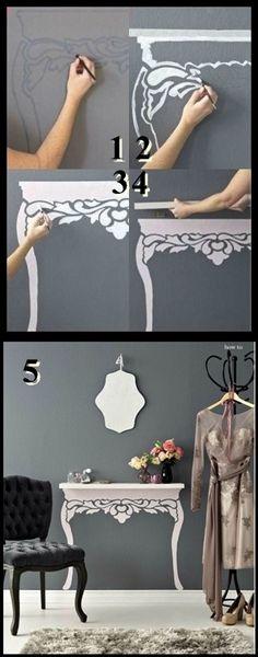 "A really cute idea, turn a shelf into a ""table"""