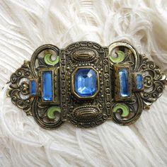 Vintage Art Deco Czech Enamel Filgree Metal by Thecherishedweb